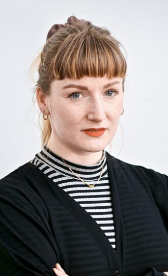 Solveig Søndergaard   SheWorks Atelier     Solveig Søndergaard has a degree in design and through her work with SheWorks she uses surplus fabrics to create up-cycled products. Solveig also wants to make a social impact and her workforce consists primarily of immigrants. Solveig is well aware she can't change the whole world but hopes she can inspire others to contribute to making an impact.Click for the video
